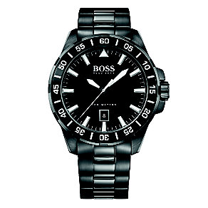 Hugo Boss men's ion plated black dial bracelet watch - Product number 3692078