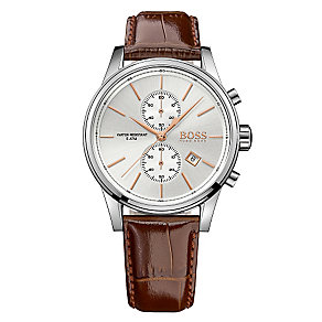 Hugo Boss Jet men's brown leather strap watch - Product number 3692094