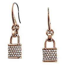 Michael Kors Rose Gold Tone Stone Set Drop Earrings - Product number 3692701
