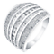 18ct white gold 1ct diamond seven row channel set ring - Product number 3693619