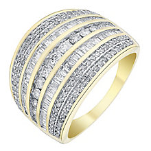 18ct gold 1ct diamond seven row channel set ring - Product number 3693759