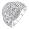 18ct white gold 2ct diamond halo cluster ring - Product number 3694283