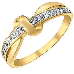 9ct gold diamond ring - Product number 3702278