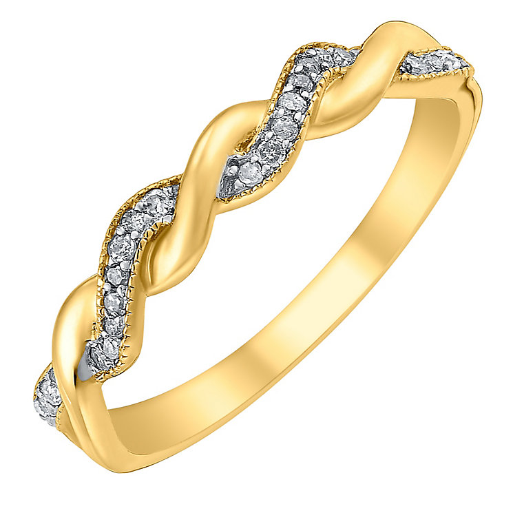 9ct gold diamond ring - Product number 3703223