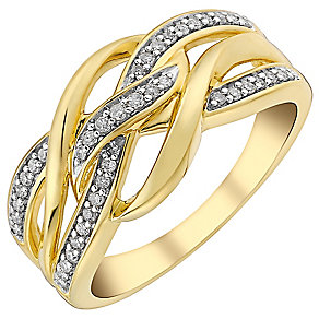 9ct gold 0.15ct diamond ring - Product number 3703916