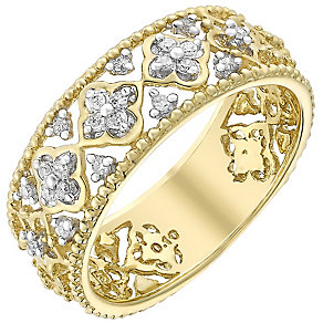 9ct gold diamond ring - Product number 3704386