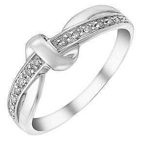 9ct white gold diamond ring - Product number 3704777