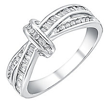 9ct white gold 0.33ct diamond ring - Product number 3705250
