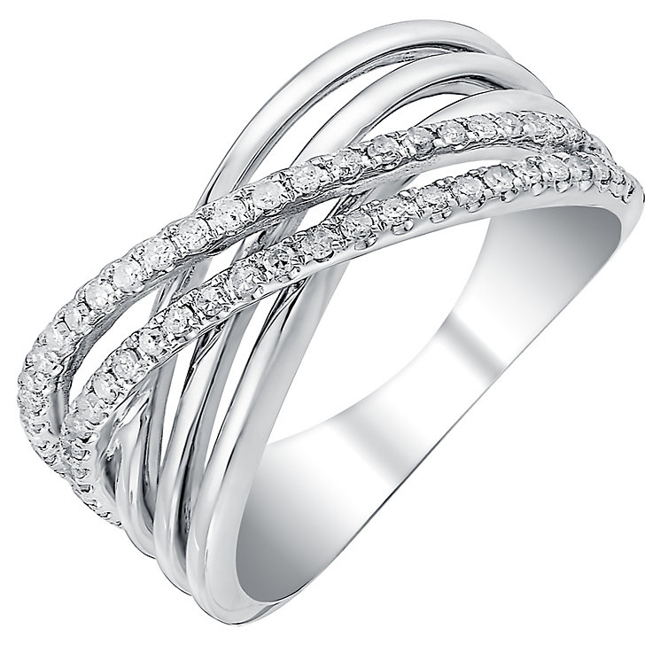 9ct white gold 0.33ct diamond ring - Product number 3705382