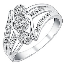 9ct white gold 0.25ct diamond ring - Product number 3705668