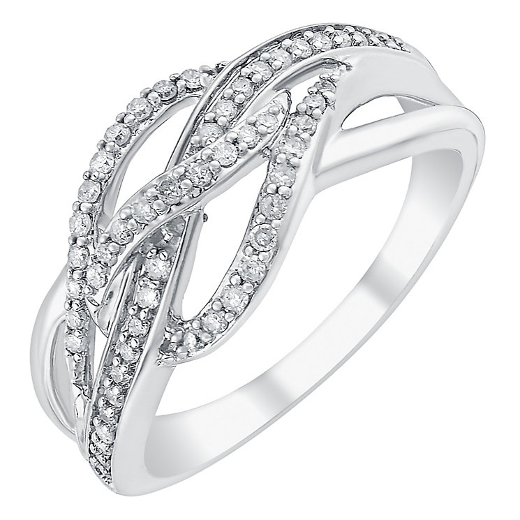 9ct white gold 0.25ct diamond ring - Product number 3706826