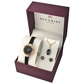 Accurist Ladies' Mesh Bracelet, Pendant & Earrings - Product number 3709124