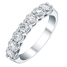 Platinum 1ct certificated diamond band - Product number 3710777