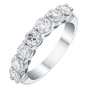 Platinum 1.5ct certificated diamond band - Product number 3711080