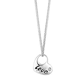 Sterling Silver Heart Shaped Love Pendant - Product number 3716619