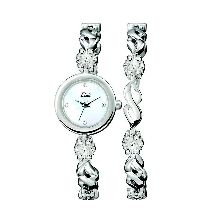 Limit Ladies' Stainless Steel Bracelet Watch & Bracelet Set - Product number 3717259