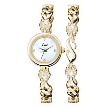Limit Ladies' Gold-Plated Bracelet Watch & Bracelet Set - Product number 3717267