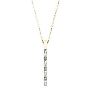Line of Love 9ct gold 1/3ct diamond flexi pendant - Product number 3717917