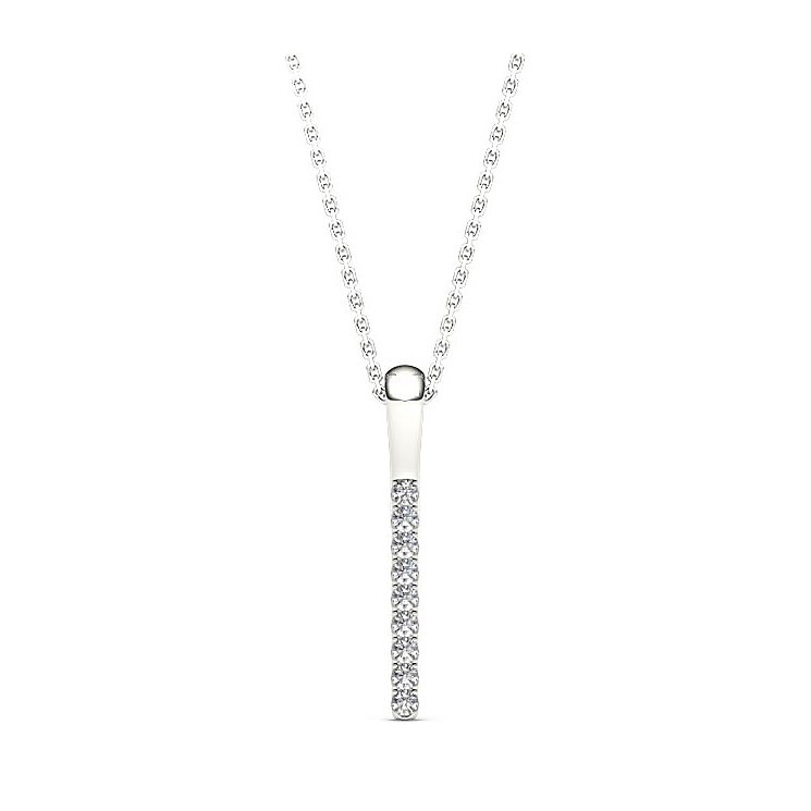 Line of Love 9ct white gold diamond pendant - Product number 3718085