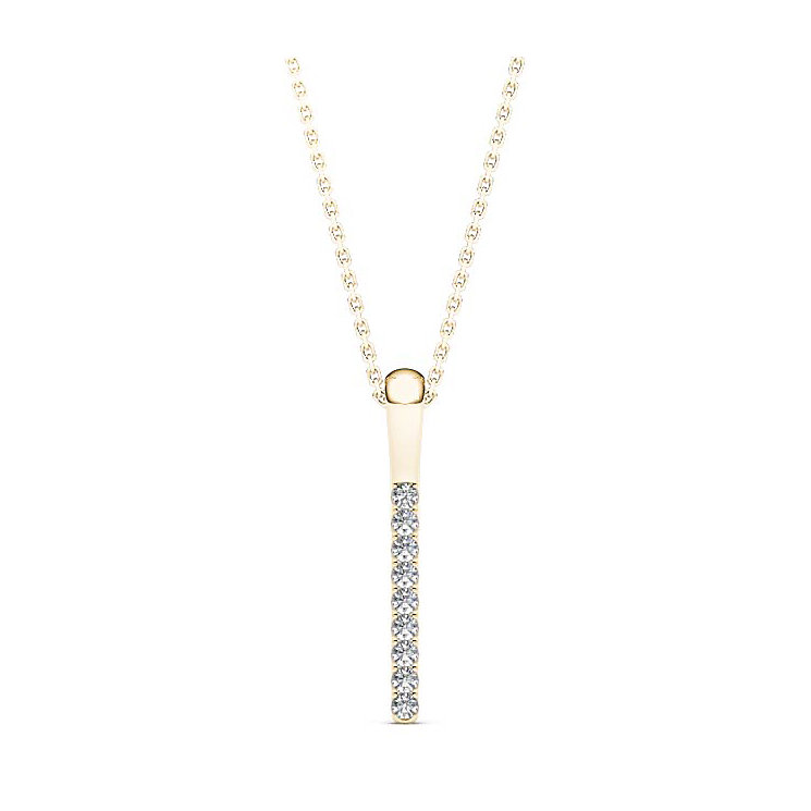 Line of Love 9ct gold diamond pendant - Product number 3718093