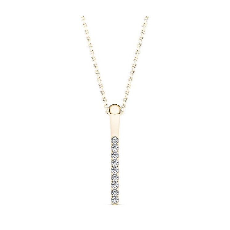Line of Love 9ct gold diamond pendant - Product number 3718115