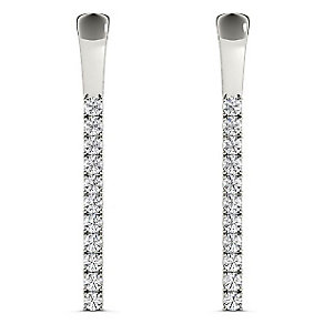 Line of Love 9ct white gold 1/3ct diamond flexi earrings - Product number 3718182