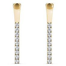 Line of Love 9ct gold 0.25ct diamond flexi earrings - Product number 3718204