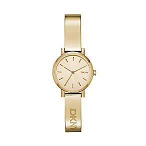DKNY Soho ladies' gold-plated champagne bracelet watch - Product number 3720608