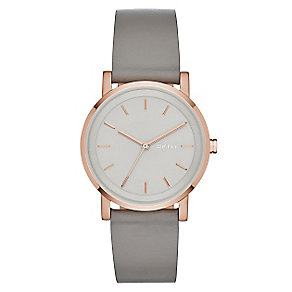DKNY Soho Ladies' Rose Gold-plated Round Strap Watch - Product number 3720624