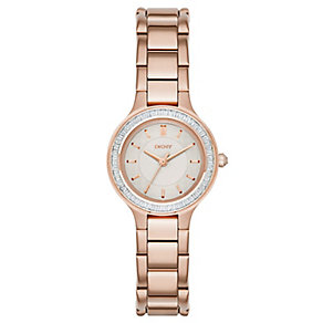 DKNY Chambers ladies' rose gold-plated bracelet watch - Product number 3720659