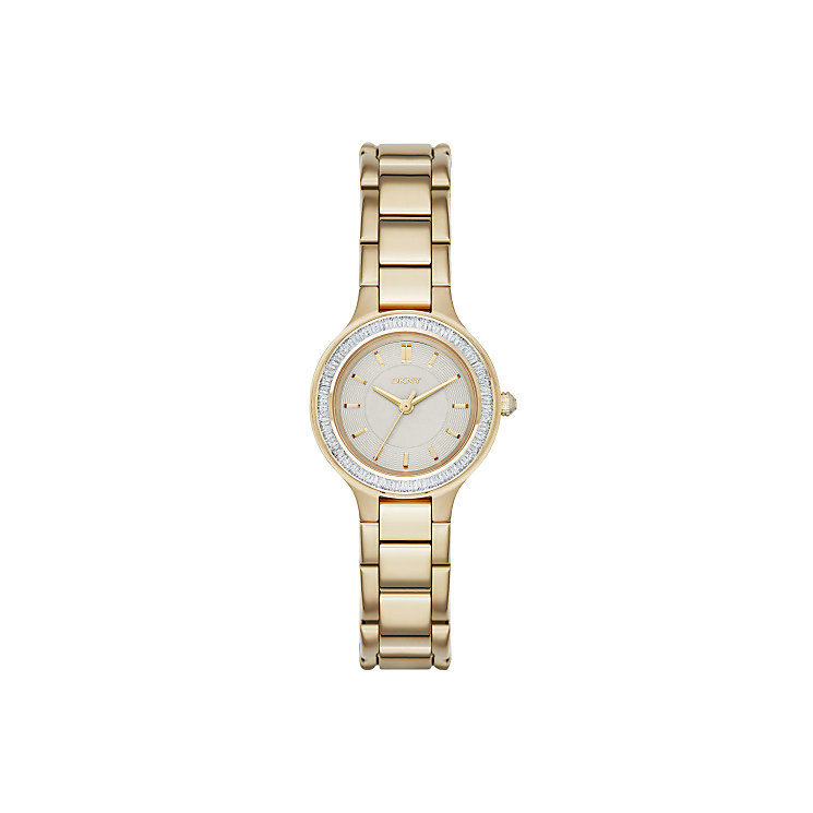 Dkny Chambers Ladies' Gold Tone Stone Set Bracelet Watch - Product number 3720667
