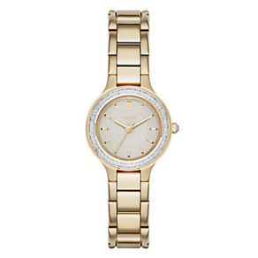 DKNY Chambers ladies' gold-plated stone set bracelet watch - Product number 3720667