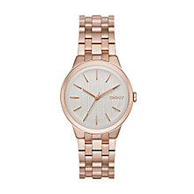 Dkny Park Ladies' Rose Gold Tone Bracelet Watch - Product number 3720802