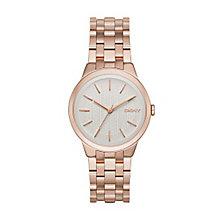 Dkny Park Ladies' Rose Gold Tone Bracelet Watch - Product number 3720802
