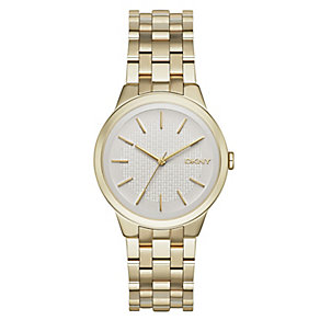 DKNY Park gold-plated ladies' bracelet watch - Product number 3721000