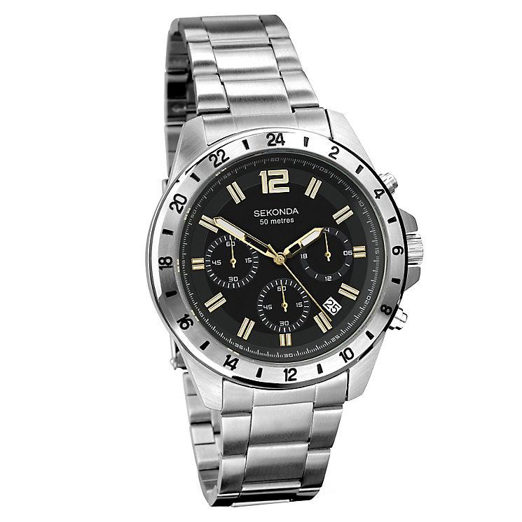 sekonda s chronograph stainless steel bracelet