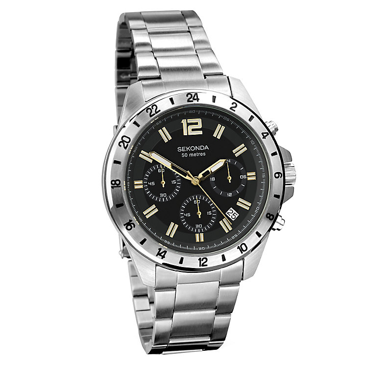 Sekonda Men's Chronograph Stainless Steel Bracelet Watch - Product number 3721051