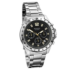 Sekonda Men's Chronograph Stainless Steel Bracelet Watch - Product number 3721051