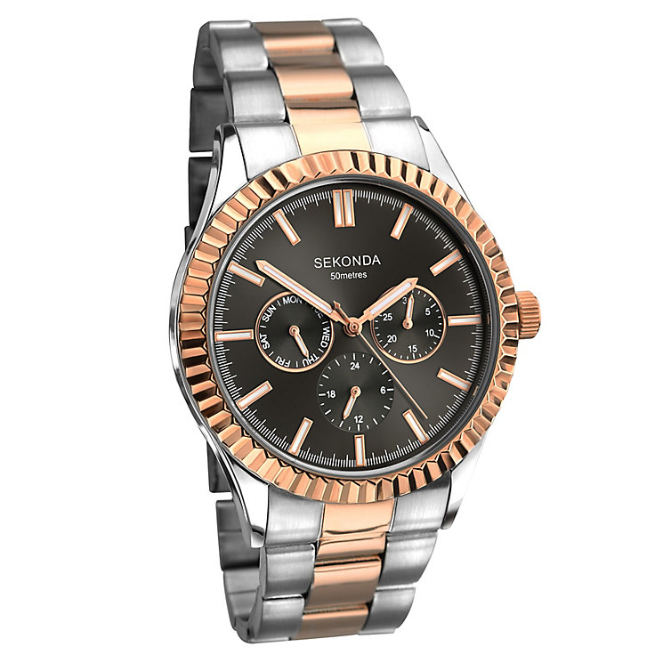 Sekonda Men's Two Colour Stainless Steel Bracelet Watch - Product number 3721078