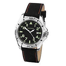 Sekonda Men's Black & Green Dial Black Nylon Strap Watch - Product number 3721108