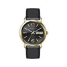 Marc Jacobs Fergus Ladies' Gold Tone Black Strap Watch - Product number 3721892