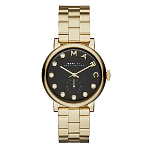 Marc Jacobs Baker ladies' gold-plated bracelet watch - Product number 3722090