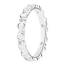 Chamilia Affinity sterling silver  & cubic zirconia ring XL - Product number 3722430