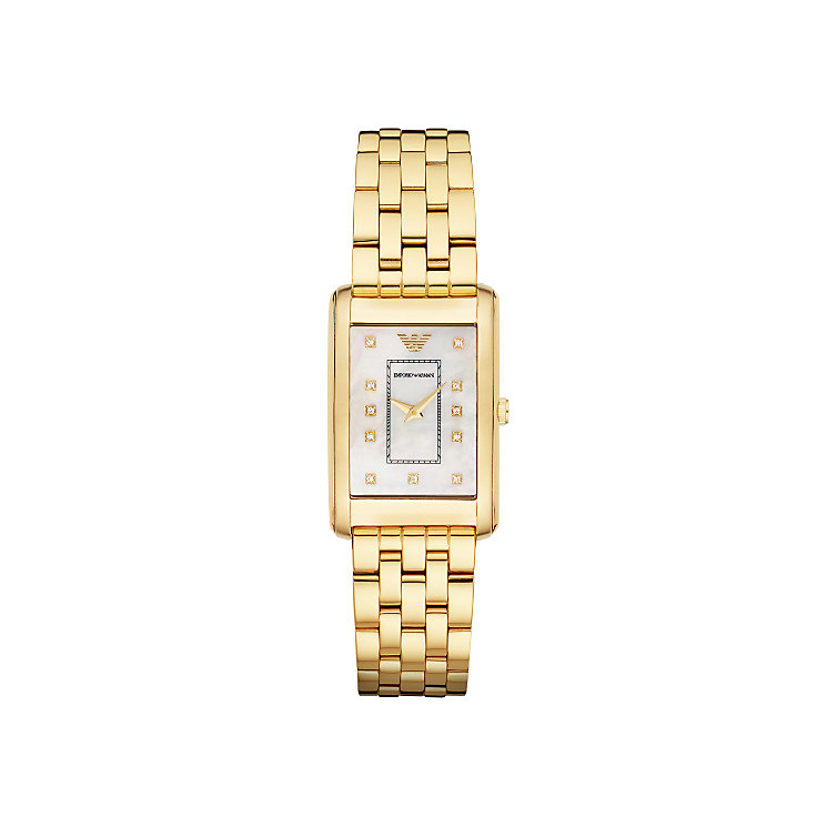 Emporio Armani Ladies' Gold Tone Stone Set Bracelet Watch - Product number 3724166