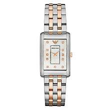 Emporio Armani Ladies' Two Colour Stone Set Bracelet Watch - Product number 3724174