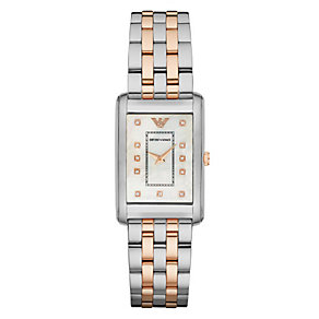 Emporio Armani Ladies' Two Colour Stone Set Bracelet Watch - Product number 3724174
