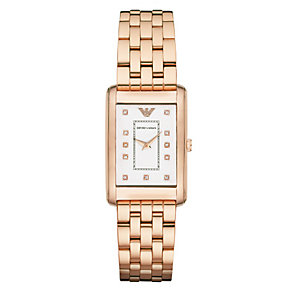 Emporio Armani Ladies' Rose Gold Tone Bracelet Watch - Product number 3724204