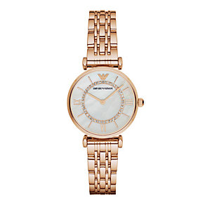 Emporio Armani Ladies' Rose Gold Tone Watch - Product number 3724263