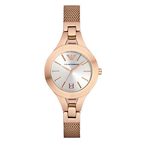 Emporio Armani Ladies' Rose Gold Tone Watch - Product number 3724379