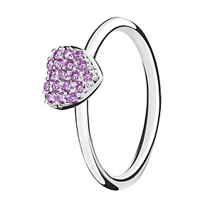 Chamilia Affection sterling silver & cubic zirconia ring XS - Product number 3724905